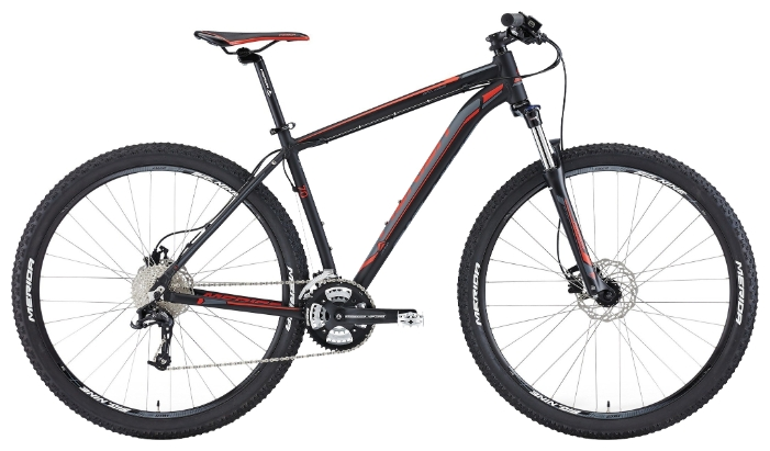 ВЕЛОСИПЕД (2015) MERIDA BIG NINE 70 MATT BLACK/SIGNAL RED/DK.GREY